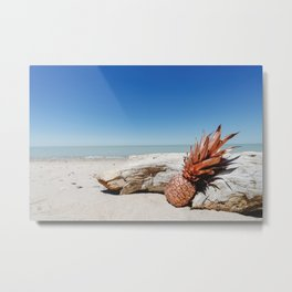 Rose Gold Pineapple Awesome Metal Print