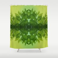 leaf Shower Curtains featuring Leaf by Cs025