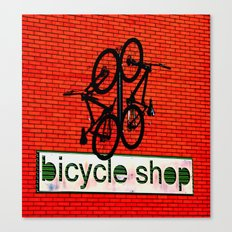 Bicycle Shop Canvas Print