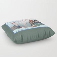 Superheroic Seasons Greetings (Chestnuts Roasting) Floor Pillow