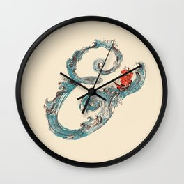 Water Ampesand Wall Clock
