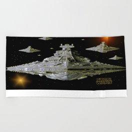 Galactic Battle Cruisers  Beach Towel
