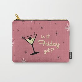 MID CENTURY COCKTAIL PINK IS IT FRIDAY YET? Carry-All Pouch