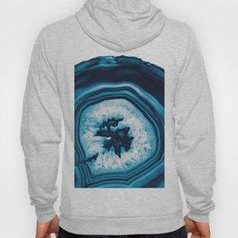 Blue White Agate #2 #gem #decor #art #society6 Hoody