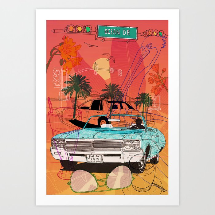 Miami Vibes Art Print