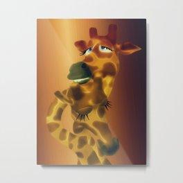 Giraffenpaar Metal Print