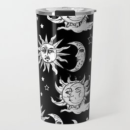 Sun and Moon Celestial Pattern Travel Mug