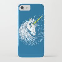 unicorns iPhone & iPod Cases featuring Scar Unicorns by Steven Toang