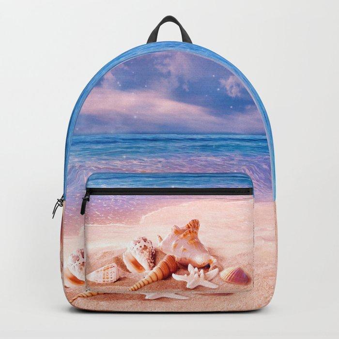 Seashells on the beach Backpack