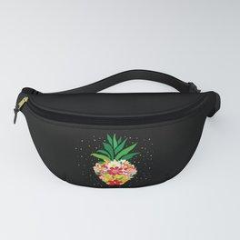 Pineapple Floral Motif Pineapple Fruit Vintage Fanny Pack
