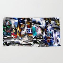 Bowery Graffiti Beach Towel