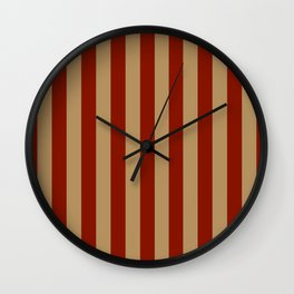 RED & SAND Wall Clock