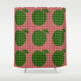 Red And Green Apples Shower Curtain