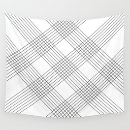Crossing lines Wall Tapestry