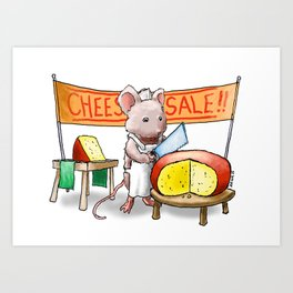 The Cheese Monger Art Print