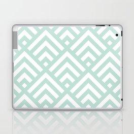 Turquoise Blue geometric art deco diamond pattern Laptop & iPad Skin