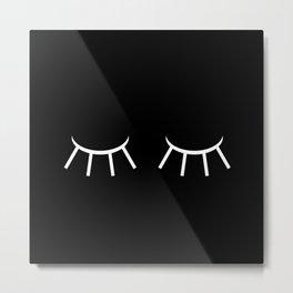 Closed Eyes Metal Print