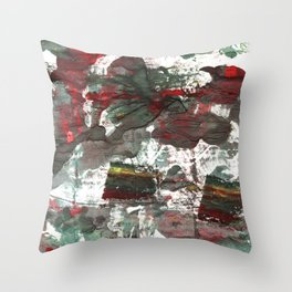 Dark liver abstract watercolor Throw Pillow