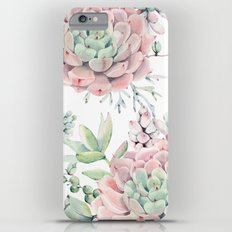 Pink Succulents by Nature Magick iPhone 6 Plus Slim Case