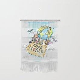 One World Together Eco Art Wall Hanging