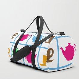 Colorful teapots pattern Duffle Bag