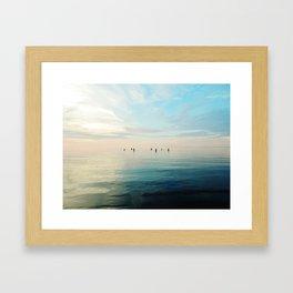 Freshwater Beach Meeting Framed Art Print