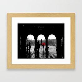 Bethesda Terrace Red Framed Art Print