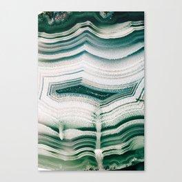 Green Agate Canvas Print