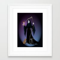 discworld Framed Art Prints featuring A PTribute by wolfanita
