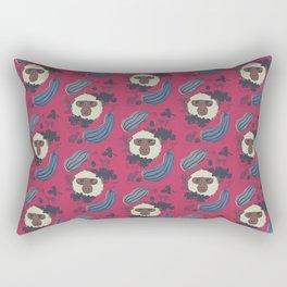 Macaques & Squash (magenta) Rectangular Pillow
