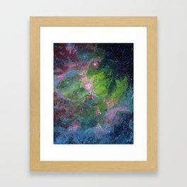 Eagle Nebula Gouache Painting Impressionistic Illustration Framed Art Print