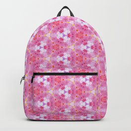 Abstract Pink Floral Pattern Backpack