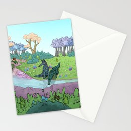 Creek and wolf - Ruisseau des loups Stationery Cards
