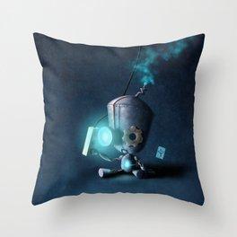 Glow Robot Throw Pillow