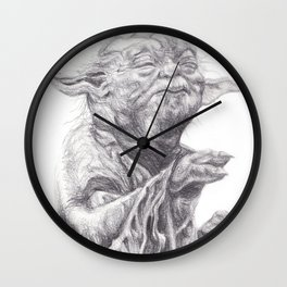 Yoda sketch Wall Clock