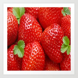 strawberry fruit juice Art Print
