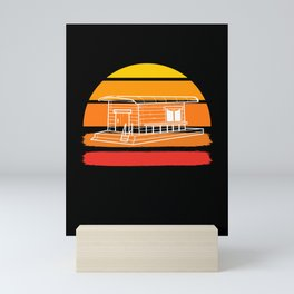 Vintage Houseboat Retro Boating Captain Tiny House Mini Art Print