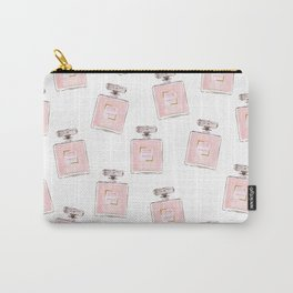 Classic Pink Parfum Pattern Carry-All Pouch