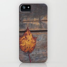 vintage leaf. iPhone Case