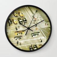 escher Wall Clocks featuring Escher Intersection by Vin Zzep