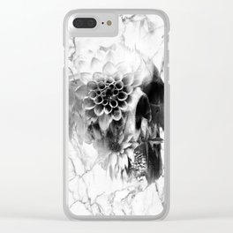 Decay Marble Skull Clear iPhone Case