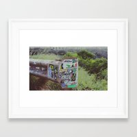 stickers Framed Art Prints featuring Stickers of Maui  by Braeden Mohr