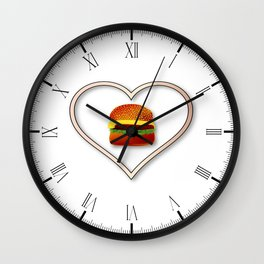 Love Burgers Wall Clock