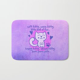 soft kitty, warm kitty, little ball of fur... Bath Mat