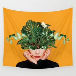 Lady Flowers || Wall Tapestry