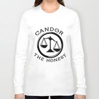 divergent Long Sleeve T-shirts featuring Divergent - Candor The Honest by Lunil
