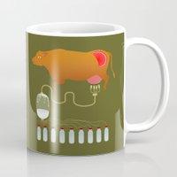 cow Mugs featuring Cow by Mira Maijala