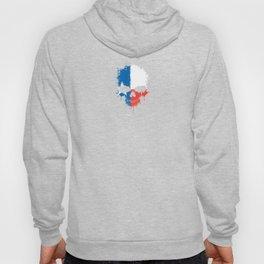 Flag of Texas on a Chaotic Splatter Skull Hoody