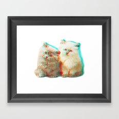 Meow Buddies Framed Art Print