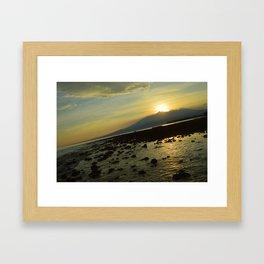 Morning Rise Low Tide Surprise Framed Art Print